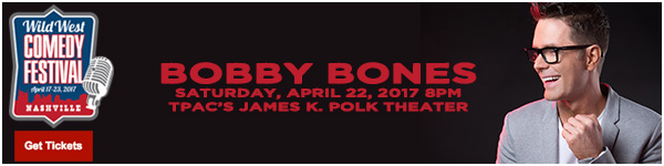 Bobby Bones at TPAC's James K. Polk Theater LIVE at the Wild West Comedy Festival - Ryman Auditorium, April 22, 2017