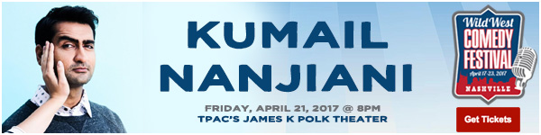 Kumail Nanjiani LIVE at the Wild West Comedy Festival - TPAC's James K Polk Theater, April 21, 2017